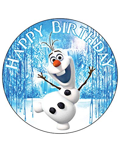 7.5 Inch Edible Cake Toppers – Frozen: Olaf Themed Birthday Party Collection of Edible Cake Decorations