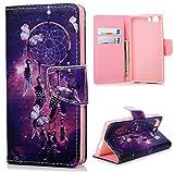 Mavis's Diary Étui Doogee X5 Coque en Cuir Housse de Protection Phone Case Cover Étui à Rabat pour Doogee X5 Papillon...
