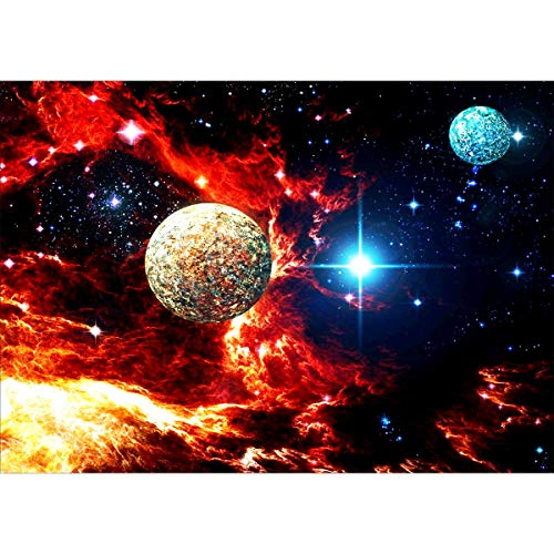 Ginfonr 5D Diamond Painting Diamante Pintura Planeta Cielo Estrellado Universo Por Kits Numéricos Pintura De Taladro Completo Con Decoración De Pared De Diamantes Art 30 * 40 cm