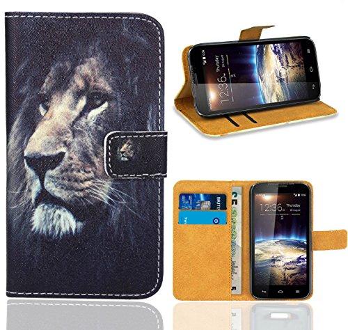 FoneExpert® Vodafone Smart 4 Power Handy Tasche, Wallet Hülle Flip Cover Hüllen Etui Ledertasche Lederhülle Premium Schutzhülle für Vodafone Smart 4 Power