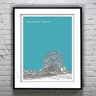 Silver8847 Daytona Beach Skyline Poster Art Print Florida Image