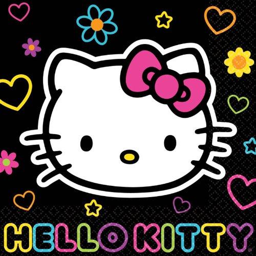 Hello Kitty 'Neon Tween' Large Napkins (16ct)