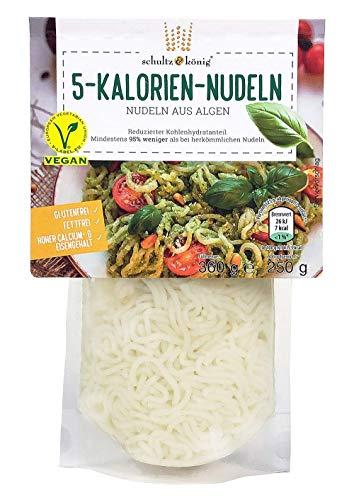 1 Packung | 5-Kalorien-Nudeln 250g | Algen Nudeln | Glutenfrei & Vegan | Low Carb | Schultz und König