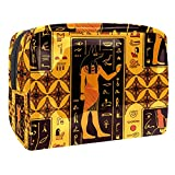 Neceseres para Maquillaje de niños Indio Antiguo, Cultura Animales Bonitos Bolsa de Almacenamiento de Viaje Impermeable de PVC Impresa Personalizada 18.5x7.5x13cm