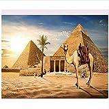 PLYBGC Bricolaje Kit de Pintura por Números, Pirámides egipcias Incluye Pinceles y pigmentos acrílicos, decoración de hogar 40x50cm