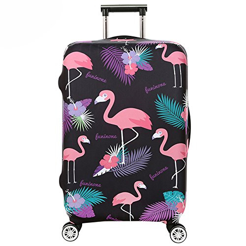 Youth Union Kofferhülle Elastisch Koffer Schutzhülle Flamingo Muster 18-32 Zoll Luggage Cover Protector Kofferschutzhülle mit Reißverschluss (Flamingo 5, XL)