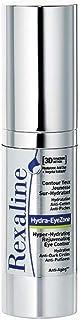 Rexaline - Hydra-EyeZone - Contorno de ojos antiojeras sobrehidratante - Crema antiarrugas para hombres y mujeres con ácido hialurónico - Antiedad - 15 ml