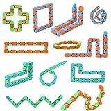 12 Pack Wacky Tracks Fidget Toys, Snake Fidget Toys for...