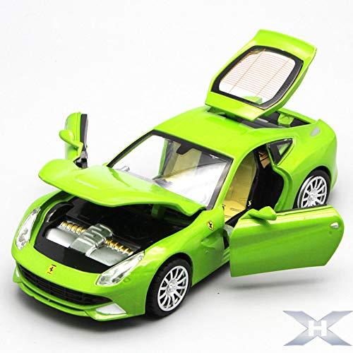 DishyKooker 1:32 Legierung Auto Modell Sound Licht Tür Open Auto Spielzeug Cool Home DE/C/Oration Auto gelb