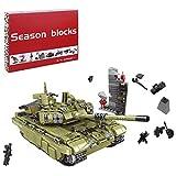 JILIGALA Set de Bloques de construcción de Tanques técnicos, 1386 PCS Military Scorpio Tiger Tiger Modelo, Compatible con Lego