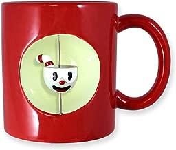 Cuphead Ceramic Mug, Red, 20oz Spinning Cuphead Feature