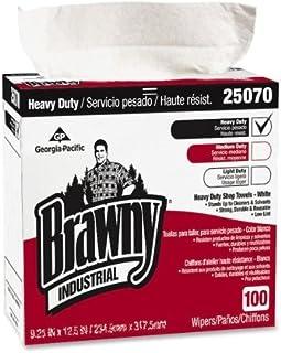 "Wholesale CASE of 10 - Georgia Pacific Brawny Heavy-Duty Industrial Wipes-Heavy-duty Wipes, 9-1/10""x16-1/2"", 100/BX, White"