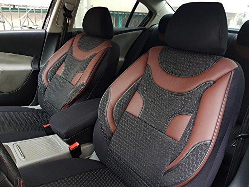 Sitzbezüge k-maniac für Audi A8 D2 | Universal schwarz-rot | Autositzbezüge Set Vordersitze | Autozubehör Innenraum | V330392 | Kfz Tuning | Sitzbezug | Sitzschoner