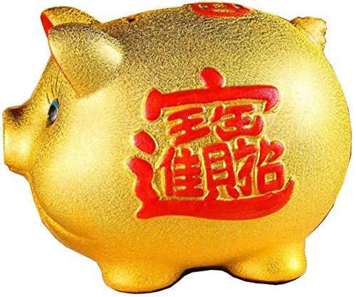 ZKZK Decoraciones Cajas de Dinero de cerámica Creativa de Oro de la Moneda Retro Tanque Dinero Ahorros decoración del hogar del Regalo Hucha Niños (Size : -)