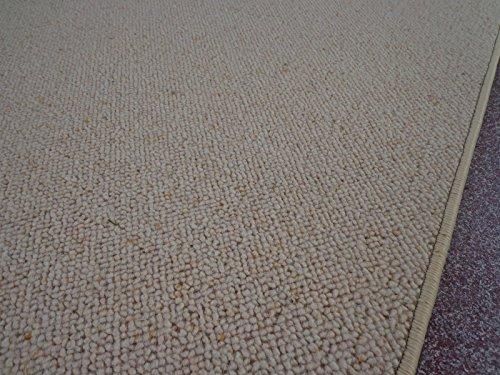 Berber Kettel Teppich Natur 100% Schurwolle 180 x 200 cm