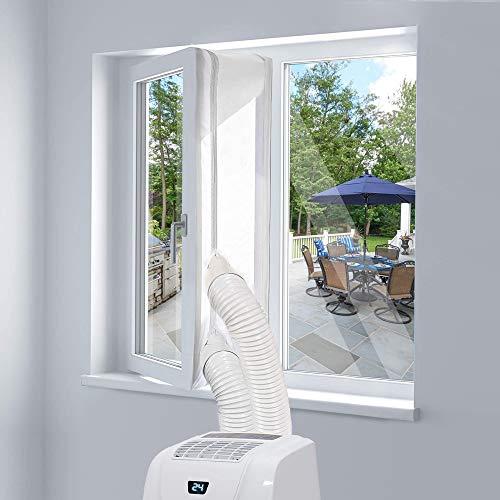 400CM Fensterabdichtung für Mobile Klimageräte, Klimaanlagen, Wäschetrockner und Ablufttrockner | AirLock zum Anbringen an Fenster, Dachfenster, Flügelfenster | Fensterabdichtung Klimaanlage