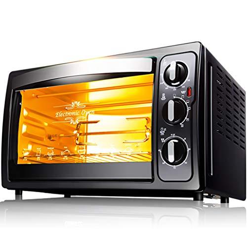 ZXYZZ Mini-mini-oven, multifunctioneel, automatische mini-mini-elektrische oven voor taart, 30 liter, grote capaciteit op en neer verwarmbaar, 4 lagen, scheidingsrooster, veiligheidskaart