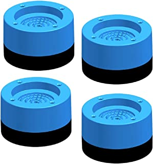OSALADI 4PCS Washing Machine Pads Anti-Vibration Washer Mat Shock Absorbing Noise Dampening Foot Pads Stand for Dryer Trea...