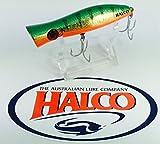 Superior Topwater Pesca por Halco 'Roosta popper 105' 30g, color R26Golden Verde
