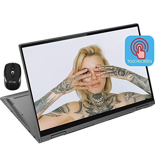 2020 Flagship Lenovo Yoga C740 2 in 1 Laptop 15.6' FHD IPS Touchscreen Intel Quad-Core i5-10210U (Beats i7-7500U) 12GB DDR4 256GB PCIe SSD Backlit Fingerprint Alexa WiFi Win 10 + iCarp Wireless Mouse