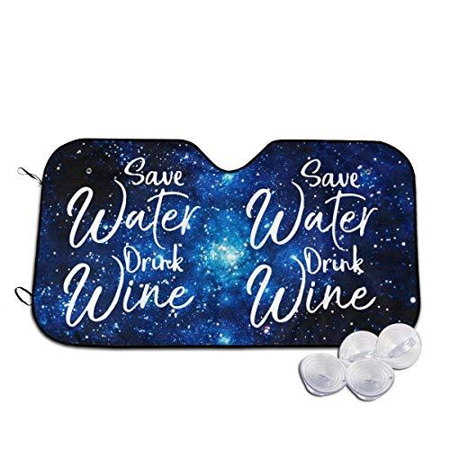 Dem Boswell Sparen Sie Wasser Trinken Wein Auto Windschutzscheibe Sonnenschirme Für Auto Windschutzscheiben Universal Fit Autos SUV Fahrzeuge LKWs