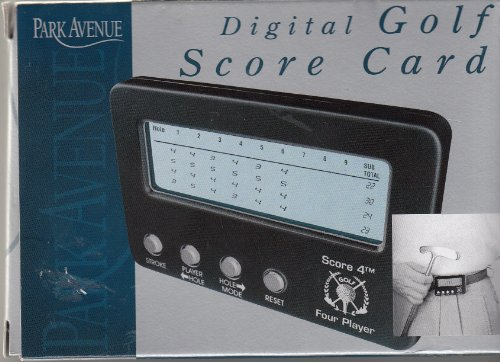 Park Avenue Digital Golf Score Card