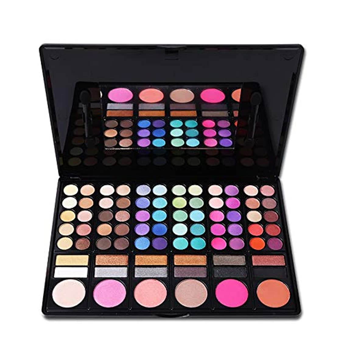 かどうかサイクロプス医薬New 78 Colors Eyeshadow Palette Matte Shimmer Glitter Eye Shadow Palette Blush Makeup Long-lasting Natural Eyeshadow Cosmetic