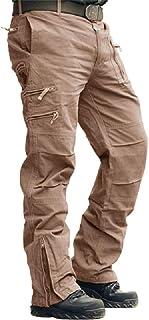 بناطيل عمل كرايسلي رجالي من القطن تصميم متعدد الجيوب التكتيكية جيشي (بدون حزام)