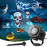 Dr. Prepare Halloween Projector Lights Outdoor, Holiday House Projector Ghost Projector with 8 Dynamic Patterns and Ground Stake, Waterproof Halloween Decorations for Patio, Garden, Christmas, Party