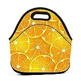 Lunch Bag,Cartone Animato Carino Arancia Limone Borsa Frigo Pranzo Termica Borsa Termica Impermeabile Pranzo Borsa Portatile Borsa Refrigeratore Per Lavoro Pesca Scuola
