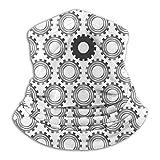 Lawenp Patrón de engranajes circulares rotos Bufanda de cara calentador de orejas para clima frío para unisex