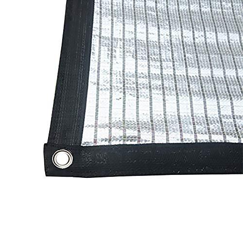 Bâches Résistant Aux UV Sunblock Tissu Ombre, Argent Blanc Réfléchissant Aluminium Foil Ombre Net pour Flower Garden Plantes, 85% Shading, 150g / ㎡ (Taille : 3×6m)