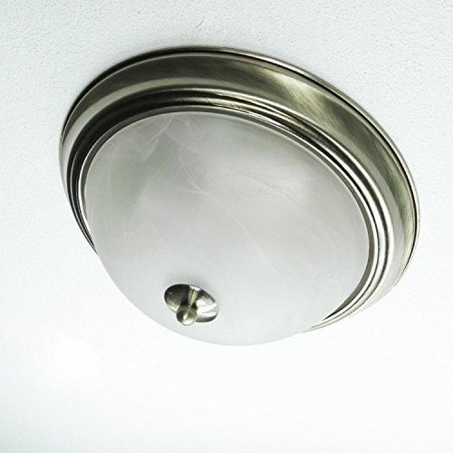 Edle Deckenlampe 2xE27 Jugendstil in Messing TOP Ø29cm Glas Deckenleuchte Wohnzimmer Schlafzimmer