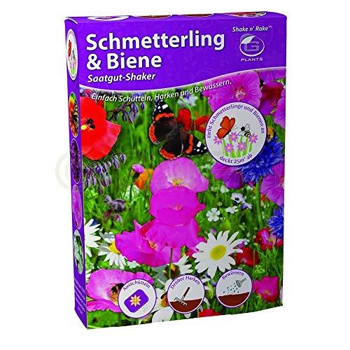 Garten Blumen Samen Saat Mischung Mix Schmetterling & Biene Shaker