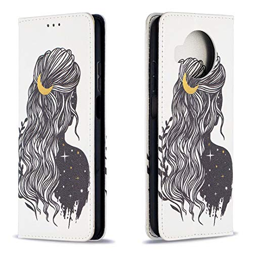 Miagon Brieftasche Hülle für Xiaomi Mi 10T Lite,Kreativ Gemalt Handytasche Case PU Leder Geldbörse mit Kartenfach Wallet Cover Klapphülle,Mädchen