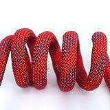Goitruas Al aire libre cuerda de montañismo velocidad de fuego escape cuerda escalada expansión nylon cuerda resistente al desgaste alta altitud cuerda de seguridad-12mm 15 metros gancho doble-rojo