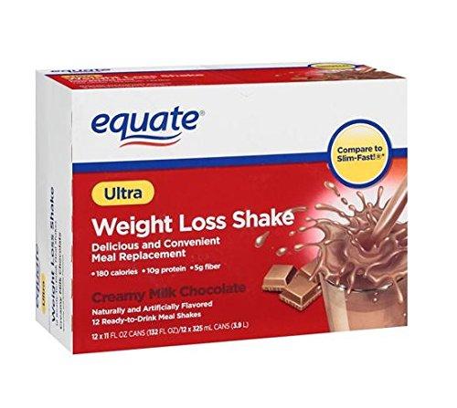 Equate Creamy Milk Chocolate Ultra Weight Loss Shake, 12ct