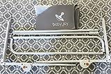 Babyjoy XL Bettschutzgitter 150 cm Grau Kinder Bettgitter Babybettgitter, Weiß Grau - 5
