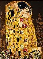 """Gustav Klimt ボヘミタウン クロスステッチ スタンプキット 刺繍スターターキット 初心者用 DIYキット - 絵画 8.5"""" x 12"""" x 1.3"""" 1"""