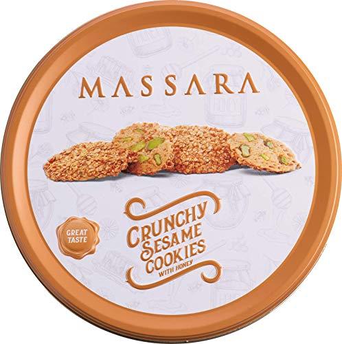 MASSARA Crunchy Sesame Cookies with Honey in der 400gr Metalldose - Barazek Sesamkekse mit Honig Plätzchen Cookies