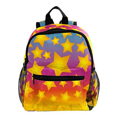 Kid Child Girl Cute Patterns Printed Backpack School Bag,Colorful Fun Star