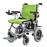 DONG Luz eléctrica Plegable Silla de Ruedas eléctrica con una Potencia o Silla de Ruedas Manual de hasta 13 Millas de Alcance para Las Personas Mayores con discapacidad