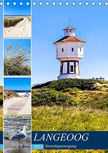 LANGEOOG Strandspaziergang (Tischkalender 2021 DIN A5 hoch)