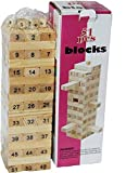 Best Stacking game ever- The game which unites family, friends and kids or adults. QUALITY: Contains 54 High quality wooden blocks and 4pcs Dice with smooth edges and plane surface. LEARNING: Best game for improving Maths among kids in a fun way. Goo...