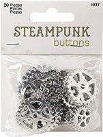 Blumenthal Steampunk Buttons-Silver Gear 20/Pkg