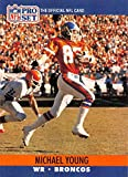 1990 Pro Set Football #493 Michael Young RC Rookie Card Denver Broncos. rookie card picture