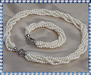 Completo Collana e bracciale perle acqua dolce