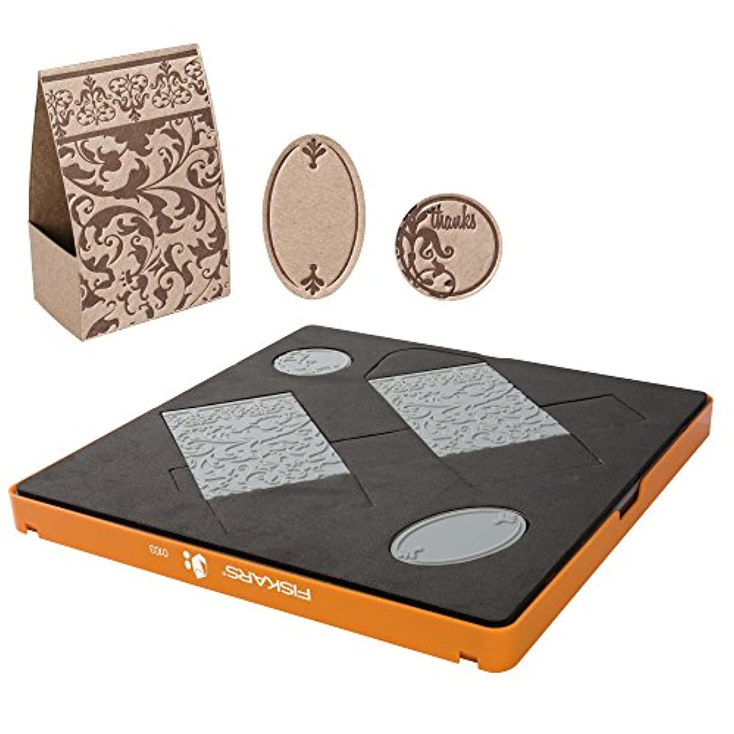 Fiskars Fuse Large Thick Material Favour Wrap Design Set, Grey
