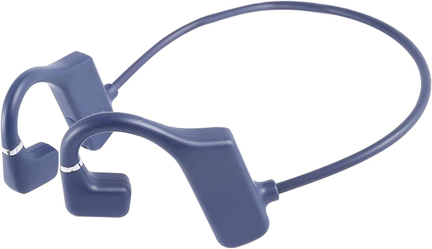 OCUhome Bone Conduction Headphones, Open Ear Headphones, G1 Bluetooth 5.1 Earphones IPX6 Waterproof 3D Surround Sound ABS Practical Wireless Bone Conduction Headsets for Sports Grey