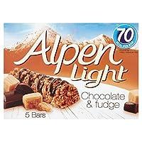 Alpen Light Bars Choc & Fudge 5 per pack - (Alpen) ライトバーチョコ&パックあたりファッジ5 [並行輸入品]